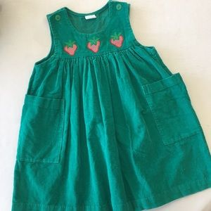 Other - Vintage jumper w/ strawberry appliqués and pockets